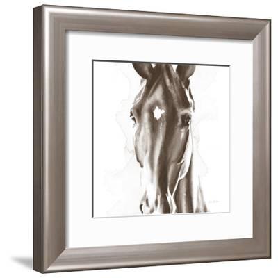Le Cheval Noir Brown Crop-Aimee Del Valle-Framed Art Print