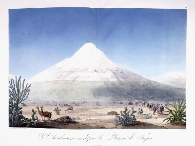 Le Chimborazo Vu Depuis Le Plateau De Tapia, 1810-1814-Friedrich Alexander-Giclee Print
