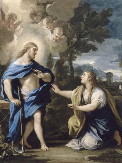 Le Christ apparaissant à la Madeleine-Luca Giordano-Giclee Print