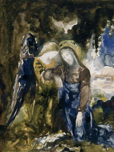 Le Christ au jardin des oliviers-Gustave Moreau-Giclee Print