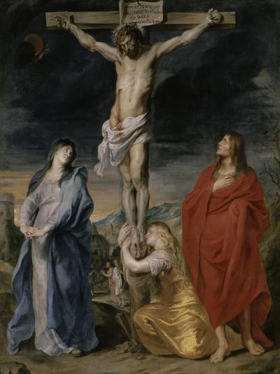 Le Christ en croix, la Vierge, Saint Jean et Sainte Madeleine-Sir Anthony Van Dyck-Giclee Print