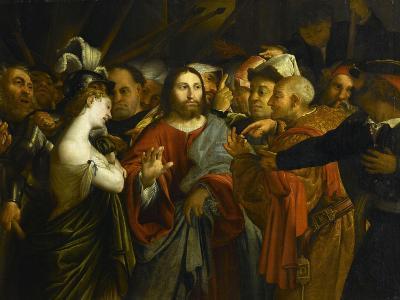 Image Adultère le christ et la femme adultère giclee printlorenzo lotto | art