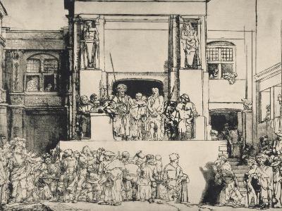 """Le Christ présenté au peuple, dit """"en largeur""""; 3ème état-Rembrandt van Rijn-Giclee Print"""