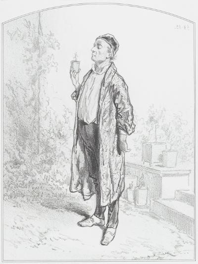 Le Cineraria Candidissima, Plate 3 from Les Toquades, 1858-Paul Gavarni-Giclee Print