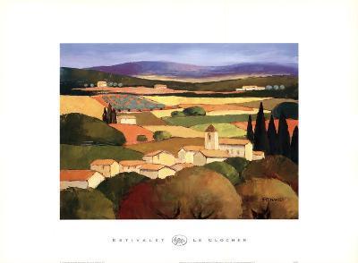 Le Clocher-Elisabeth Estivalet-Art Print