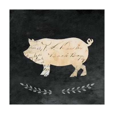 Le Cochon Cameo Sq no Words-Courtney Prahl-Art Print