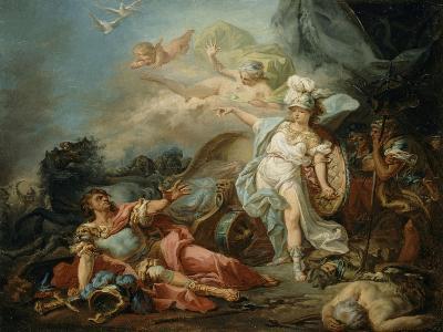 Le Combat de Minerve contre Mars-Jacques-Louis David-Giclee Print