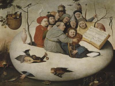 Le concert dans l'oeuf (Satire de l'alchimie symbolis?par l'oeuf philosophique)-J?r?me Bosch-Giclee Print