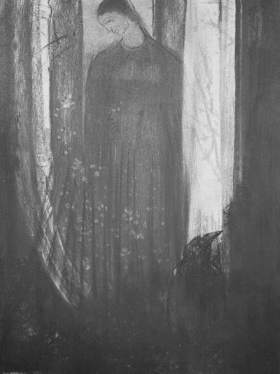 Le corbeau-Odilon Redon-Giclee Print