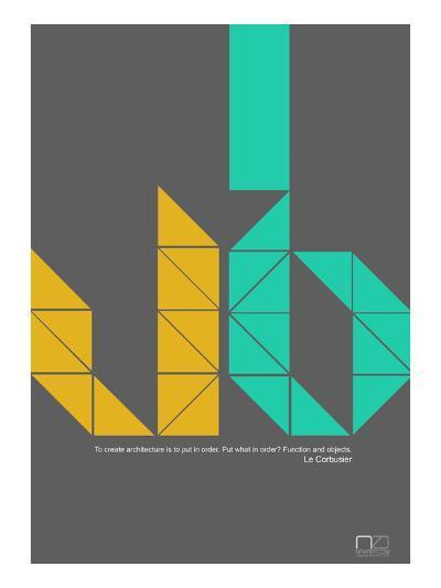 Le Corbusier Quote-NaxArt-Art Print