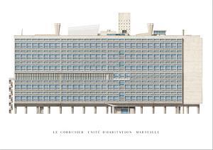 Unite d'Habitation, Marseilles by Le Corbusier