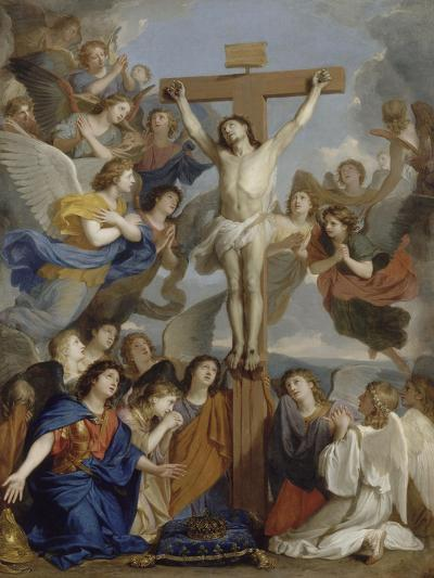 Le Crucifix aux anges-Charles Le Brun-Giclee Print