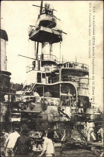 Le Cuirasse Iéna Après L'Explosion, 12 Mars 1907--Giclee Print