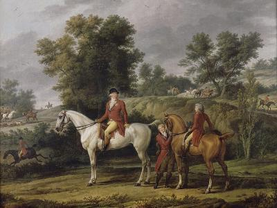 Le d�rt pour la chasse-Antoine Charles Horace Vernet-Giclee Print