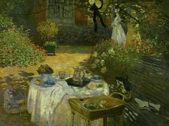 Le Dejeuner (Luncheon in the Artist's Garden at Giverny), circa 1873-74-Claude Monet-Giclee Print