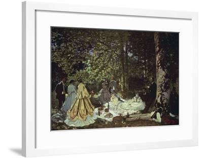 Le Dejeuner Sur L'Herbe, 1866-Claude Monet-Framed Giclee Print