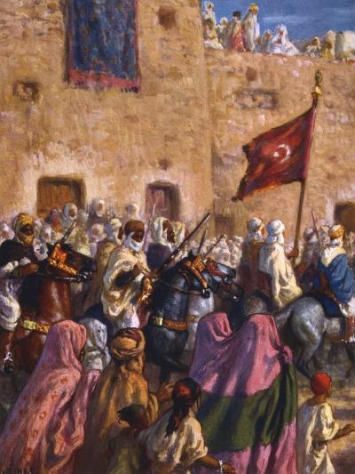 Le Depart Pour El Djihad Ou La Guerre Sainte' ('Departure for the Jihad or Holy War), 1918-Etienne Dinet-Giclee Print