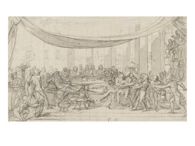 Le dernier banquet d'Alexandre-Charles Le Brun-Giclee Print