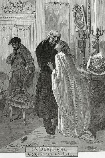 Le Dernier Gorge Du Chalice - Illustration from Les Mis?rables, 19th Century-Frederic Lix-Giclee Print