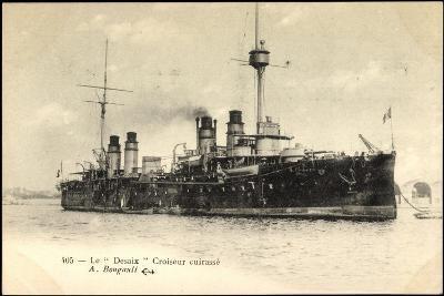 Le Desaix Beim Einlauf in Den Hafen, Kriegsschiff--Giclee Print