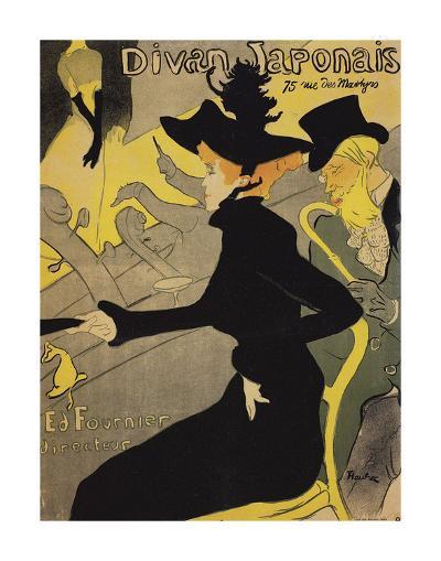 Le Divan Japonais-Henri de Toulouse-Lautrec-Art Print