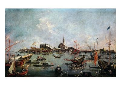 Le Doge Sur Le Bucentaure À San Nicolo Di Lido À Venise Le Jour De L'Ascension-Francesco Guardi-Giclee Print
