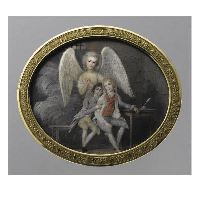 Le duc de Montpensier et le comte de Beaujolais en 1793, détenus pendant la Révolution, à la--Giclee Print