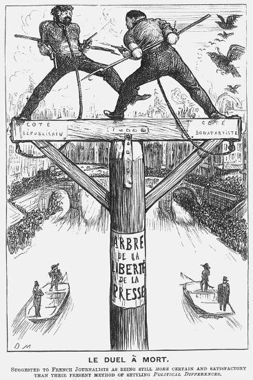 Le Duel À Mort, 1869-George Du Maurier-Giclee Print