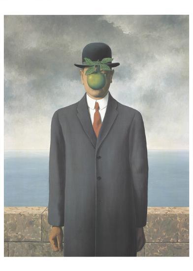 Le Fils de L'Homme (Son of Man)-Rene Magritte-Art Print