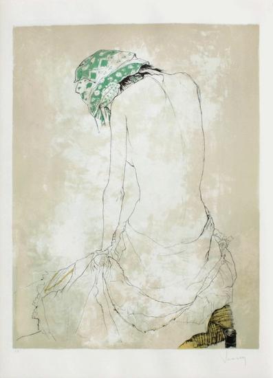 Le Foulard Vert-Jean Jansem-Limited Edition