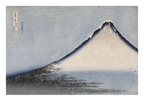Le Fuji bleu-Katsushika Hokusai-Premium Giclee Print