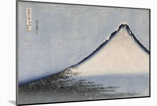 Le Fuji bleu-Katsushika Hokusai-Mounted Giclee Print