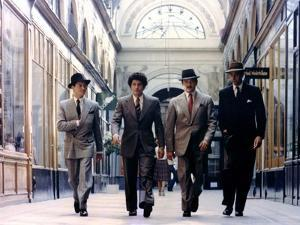 LE GANG, 1976 directed by JACQUES DERAY Alain Delon, Maurice Barrier and Xavier Depraz (photo)