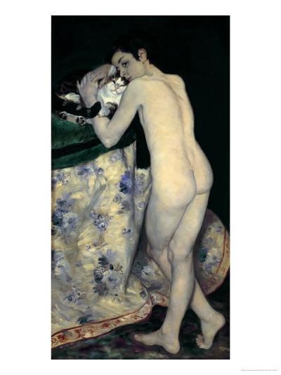 Le Garcon Au Chat (The Boy with a Cat), 1868-Pierre-Auguste Renoir-Giclee Print