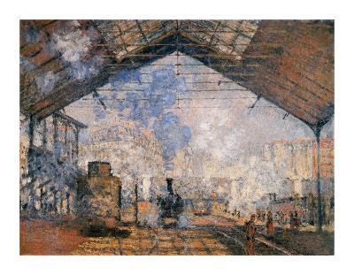 Le Gare du Nord-Claude Monet-Premium Giclee Print