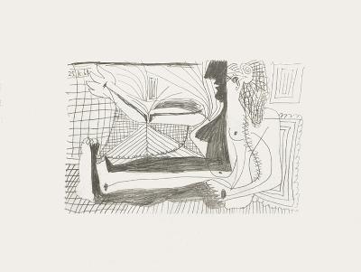 Le Goût du Bonheur 02-Pablo Picasso-Serigraph