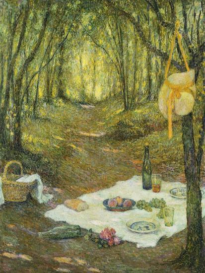 Le Gouter Sous Bois, Gerberoy, 1925-Henri Eugene Augustin Le Sidaner-Giclee Print