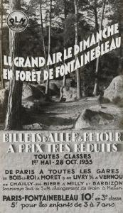 Le Grand air le dimanche en forêt de Fontainebleau PLM