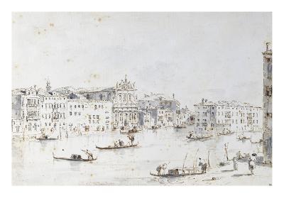 Le Grand Canal à Venise-Francesco Guardi-Giclee Print