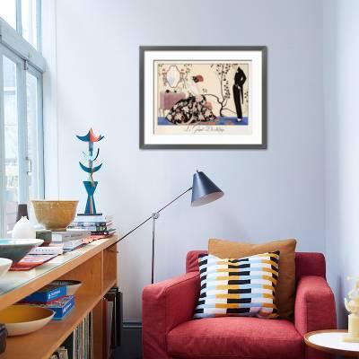 1921 GEORGE BARBIER Classic Art Deco Poster La Grande Decolletage