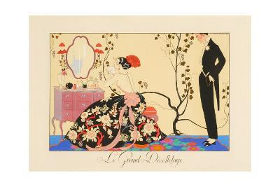 Le Grand Decolletage-Georges Barbier-Giclee Print