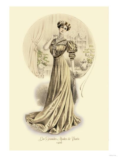 Le Grandes Modes de Paris: Golden Gown--Art Print
