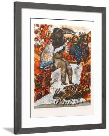 Le Grappa de Canaan-Theo Tobiasse-Framed Limited Edition