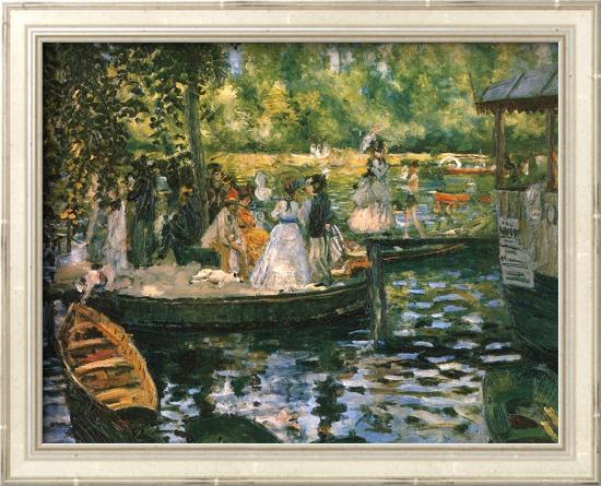 Le Grenouillere-Pierre-Auguste Renoir-Framed Textured Art