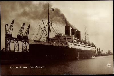 Le Havre, French Line Cgt, Le Paris, Vapeur, Dampfer--Giclee Print