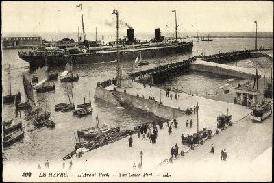 Le Havre Seine Maritime, Ankunft Im Hafen, Dampfer--Giclee Print