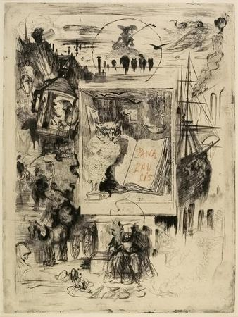 Le Hibou (The Owl), 1883-Felix Hilaire Buhot-Giclee Print