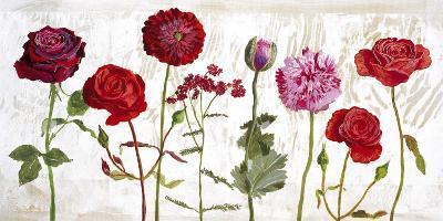 Le Jardin aux Fleurs Rouge-Valerie Roy-Art Print