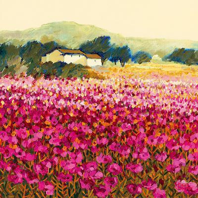 Le Jardin Rouge, Provence-Hazel Barker-Art Print