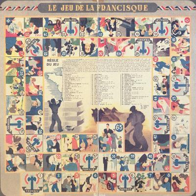 Le Jeu De La Francisque', Pro-Vichy Children's Board Game, after 1941--Giclee Print